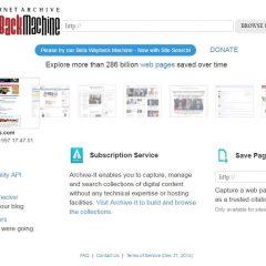 Capture de pages Web avec Wayback Machine