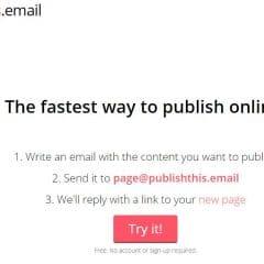 Créer une page Web par l'envoi d'un simple mail