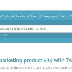 Quelques flux RSS pour Twitter