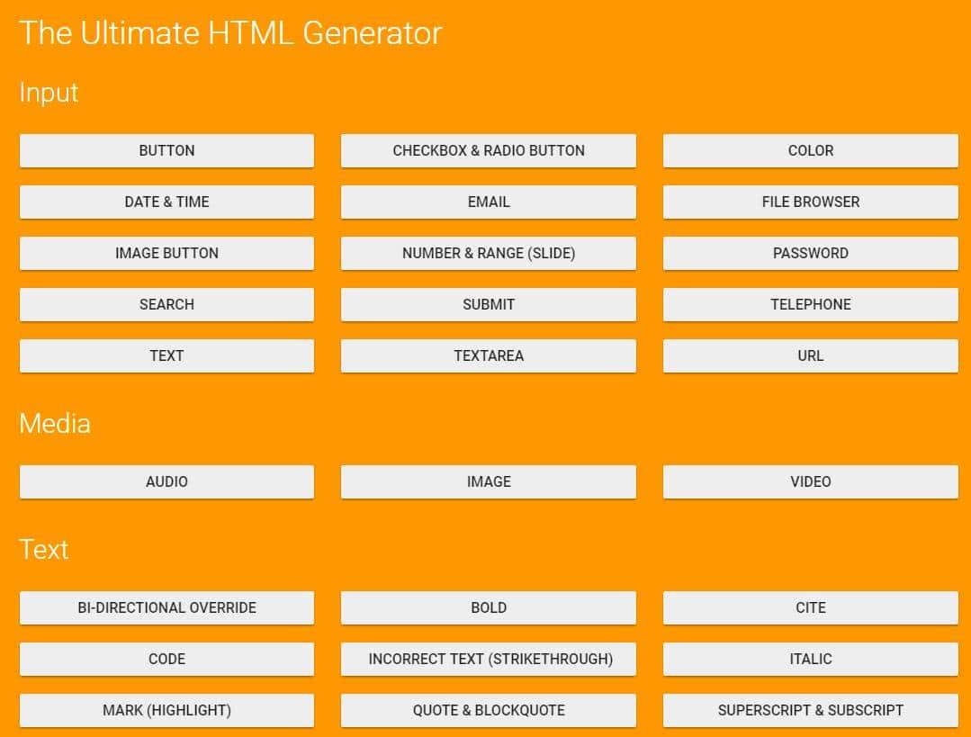 ultimate-html-generator