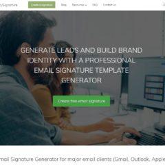 Création de signatures en ligne pour Gmail, Outlook, Apple Mail...