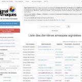 Signal Arnaques : Une base de données des arnaques