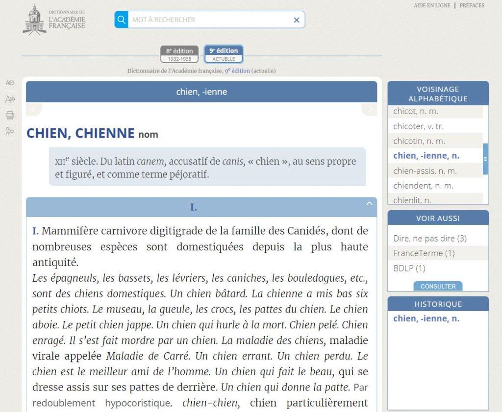 dictionnaire-academie-francaise-chien